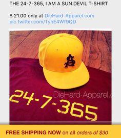 THE 24-7-365, I AM A SUN DEVIL T-SHIRT $ 21.00 only at DieHard-Apparel.com