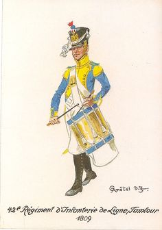 Drummer 42nd Line Regt 1809 by Knotel