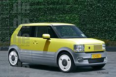 Retrocars: Fiat Panda, based on the first generation. Rendering by Radovan Varicak from Toronto for Auto Bild.