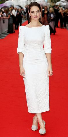 Lily James in Ulyana Sergeenko at the BAFTAs.