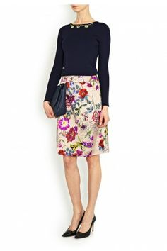 Love this Marilyn Moore retro print Ludo Skirt London-Boutiques.com.      #britishdesign