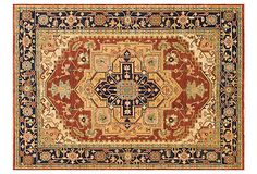 """Chausie Rug, Red/Navy, on OneKingsLane.com   hand knotted New Zealand wool, India   1/4"""" pile height   300.00-7,050.00 retail   169.00-3,999.00 OKL"""
