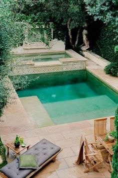 Traditional Swimming Pool with Pool with hot tub, exterior stone floors