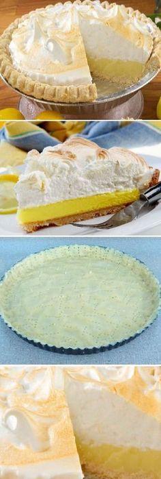 Pie de limón Pie Recipes, Sweet Recipes, Snack Recipes, Dessert Recipes, Cooking Recipes, Mini Cakes, Cupcake Cakes, Sweet Pie, Mini Cheesecakes