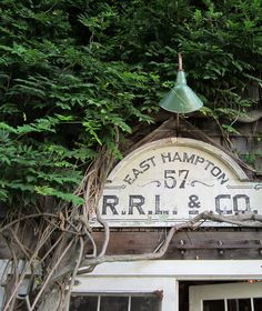 I have a similar red exterior light -- soon for my shop! Ralph Lauren Store, Ivy Style, Memorial Weekend, East Hampton, Old Signs, Exterior Lighting, Retail Design, Decoration, The Hamptons