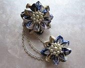 Visions of a Summer Sky Kanzashi Steam Punk by MountainMusings