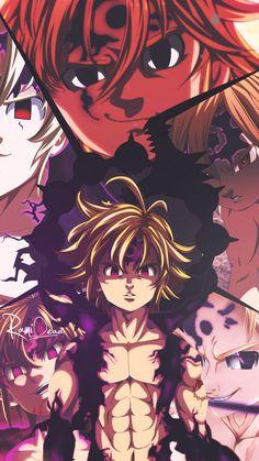 Seven Deadly Sins - nanatsu no taizai - animes - wallpapers iphone - wallpapers android - papeis de parede - nostalgia - manga - desenhos - naruto - dbz- full metal alchemist -! Otaku Anime, Evil Anime, Anime Naruto, Anime Demon, Anime Angel, Ange Anime, Anime Love, Fan Art Anime, Seven Deadly Sins Anime