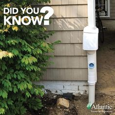 ✳️::TechTip:: Rainwater is intercepted in the downspout by the Clean Rain Ultra Downspout Diverter, which removes leaves, screens dirt and debris from the water and allows the first 10 to 15 gallons of rain to flush the roof clean. As the first flush passes through, a stack of washers swells, tripping a valve and diverting clean water to the reservoir for future use. #rainwater #rainharvesting #techtip #techtiptuesday #didyouknow #waterfeatures #atlanticwatergardens