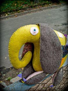 elephant with big ears, felt