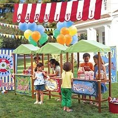 Super cute carnival booths.  Found at kaboodle.com