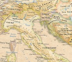 """World map with place names swapped out for their original meanings.  The """"Atlas of True Names""""…      …reveals the etymological roots, or original meanings, of the familiar terms on today's maps…"""
