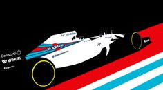 Williams FW36 artwork by Cale Funderburk