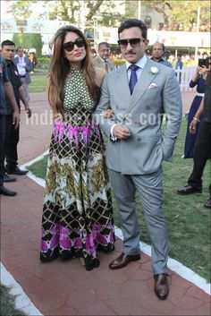 Kareena Kapoor Khan along with her husband and actor Saif Ali Khan spent a bright sunny day at the MC Dowell's Derby held at RWITC, Mahalaxmi Racecourse. Karena Kapoor, Bollywood Stars, Bollywood Fashion, Best Heroine, Diana Dors, Saif Ali Khan, Dressing Sense, Derby Day, Kareena Kapoor Khan