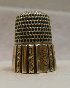 Vintage thimble  sewing thimble  metal thimble  gifts for quilters  egyptian decor  great grandma gift  retro vintage mature