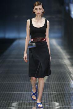 Prada Spring 2017 Ready-to-Wear Fashion Show - Milena Litvinovskaya