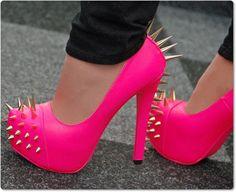 Luxus Hot Pink Pumps High Heels