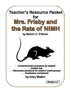 Free worksheets for mrs frisby and the rats of nimh vocab free teachers resource packet for mrs frisby and the rats of nimh comprehension fandeluxe Gallery