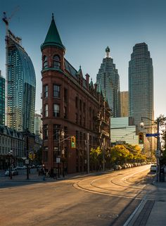 Flatiron Building (Gooderham Building, wedged between Front and Wellington in Toronto, Ontario, Canada 🍁 Places Around The World, Oh The Places You'll Go, Places To Travel, Places To Visit, Around The Worlds, Flatiron Building, Toronto Canada, Toronto City, Toronto Travel