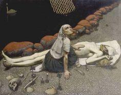 Scene from the Finnish epic kalevala, Akseli Gallen-Kallela (1865-1931)
