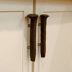 Railroad Spike Vertical Cabinet Pull Set - Industrial Pulls - Vintage Drawer Supplies on Etsy, $26.00