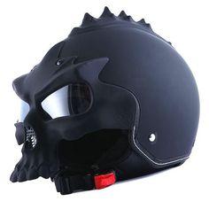 4fcac68b 14 Best Skull Helmets images | Skull helmet, Half helmets, Skeletons
