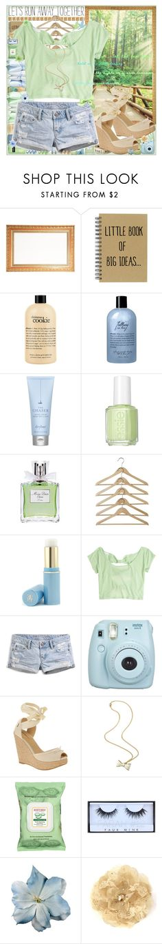 """Lets run away together :)"" by sammylynn ❤ liked on Polyvore featuring philosophy, Drybar, Essie, Christian Dior, Guerlain, American Eagle Outfitters, Fujifilm, Burt's Bees, Aerie and Huda Beauty"