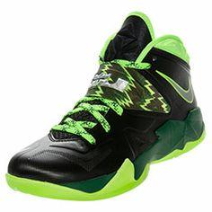 Men's Nike Zoom Soldier VII Basketball Shoes | FinishLine.com | Black/Neon Green