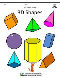 12 nets of 3d shapes amp stepbystep how to calculate - 236×305