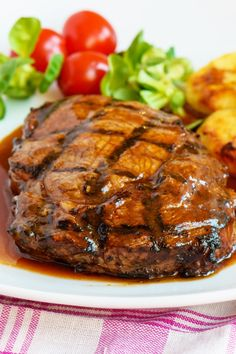 Weight Watchers Steak with Homemade Spice Rub and Barbecue Sauce Recipe