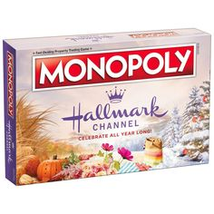 Hallmark Holiday Movies, Hallmark Holidays, Happy Holidays, Christmas Board Games, Holiday Games, Christmas Activities, Holiday Fun, Monopoly Board, Monopoly Game