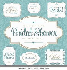 Vector Bridal Shower Frame Set. Easy to edit. Perfect for invitations or announcements. by vectorkat, via ShutterStock