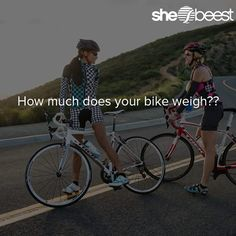 How much does your bike weigh?? #cyclinglangauge