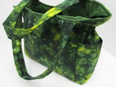 Large Green Batik Purse, Designer Handbag, Batik Fabric Purse, Diaper Bag, Women Handbag, Quilted Handbag, Women Travel Bag, Spring Bag by JustBeautiful161 on Etsy