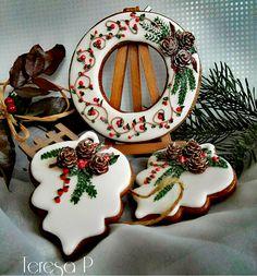 Honey Cookies, Spice Cookies, Birthday Cookies, Holiday Cookies, Sugar Cookies, Christmas Gingerbread, Christmas Sweets, Christmas Baking, Royal Icing Cookies