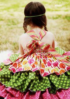 Addison's triple ruffle dress PDF Pattern size 6-12 months to size 8. $10.00, via Etsy.