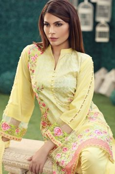Origins Luxury Eid Collection 2016 With Price for Girls. The Origins Luxury Eid Collection includes clothes 2016 are perfectly made in the court, jacquard . Blouse Back Neck Designs, Salwar Neck Designs, Neck Designs For Suits, Kurta Neck Design, Sleeves Designs For Dresses, Fancy Blouse Designs, Stylish Dress Designs, Sleeve Designs, Simple Pakistani Dresses