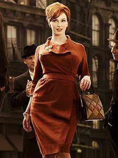 Joan Holloway- I bought a black vintage dress really similar to this style today. :)