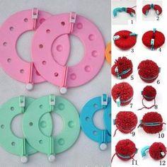 8 PCS Pom Pom Maker Weaver Tool
