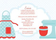 Cute invite on etsy.  Like the red and aqua