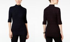 Style & Co. Marled Mock-Neck Sweater, Only at Macy's - Sweaters - Women…