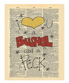 Look+at+this+#zulilyfind!+'Bushel+and+a+Peck'+Dictionary+Print+by+Doodli-Do's+#zulilyfinds