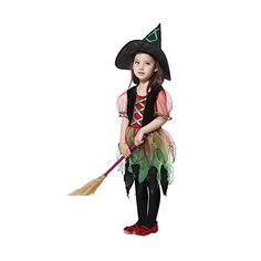 Kids Halloween costumes witch dress,it must be a sleepless and happy night!