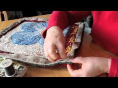 Finishing techniques for your hooked rugs - YouTube