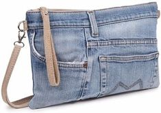 super ideas for sewing jeans bag ideas Diy Old Jeans, Sewing Jeans, Sewing Diy, Sewing Clothes, Diy Clothes, Denim Purse, Denim Clutches, Denim Ideas, Denim Crafts