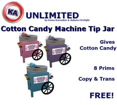 KA Cotton Candy Machine Tip Jar-Free Edition