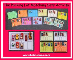 """Parking Lot"" Matching Sets Activity (from HeidiSongs)"