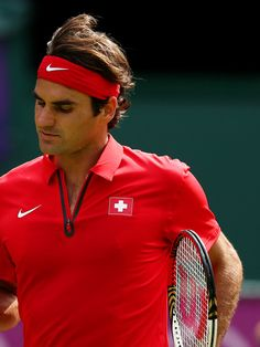 Olympics Day 3 - Tennis Top Contender Federer