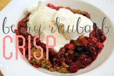 Little Yankee Homestead: Berry Rhubarb Crisp