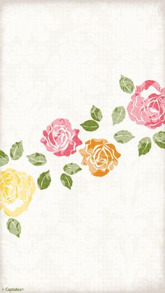 Cream pink yellow vintage floral roses iphone phone background wallpaper lock screen