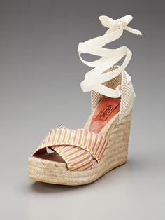 Ankle Tie Espadrille Sandal by Missoni Shoes